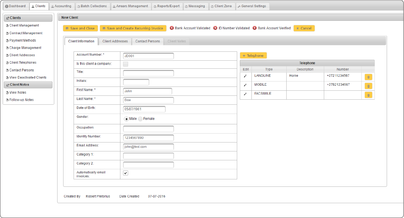 Billdozer-Billing cRM