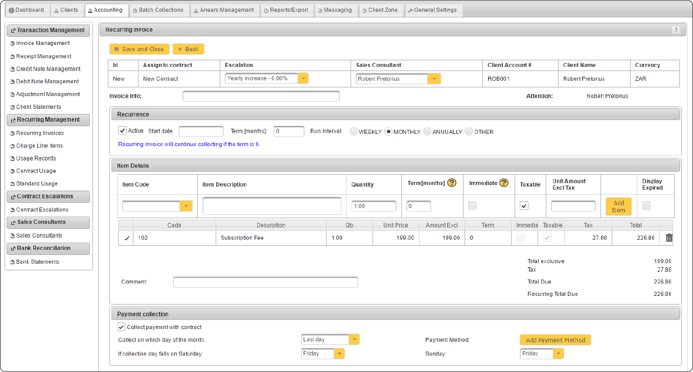 Billdozer-Invoicing